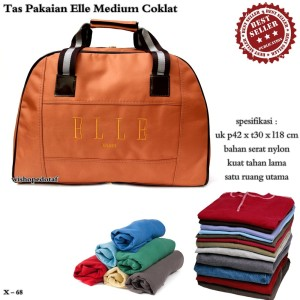 TRAVEL BAG ELLE KECIL COKLAT