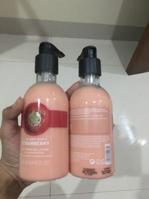 bodyshop bodylotion strawberry