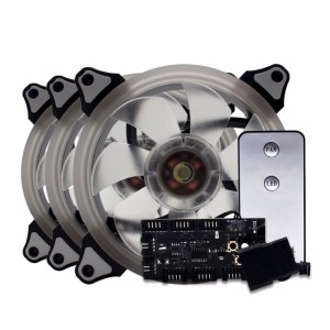 CUBE GAMING AURA - Lite Version RGB RING FANS (3 Pcs Ring Fan+Remote)