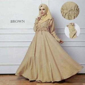 "sc dress adreena maxi brown "" pakaian longdress wanita"