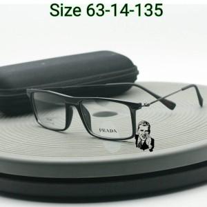 Frame Kacamata Prada 540 Black Glossy Kacamata Premium