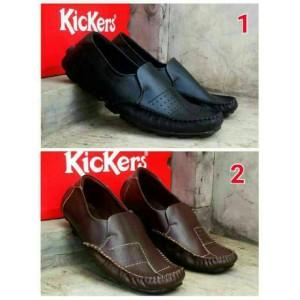 sepatu casual pria kickers batik motif moccasin
