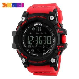 Jam Tangan Pria Digital SKMEI Smart Watch Bluetooth DG1227 Merah
