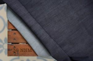 36 - Denim Blue Black Non Stretch bahan kain celana jaket jeans