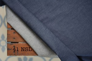 41 - Denim Blue Stretch Non Washed Tipis bahan kain celana jeans melar