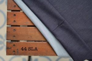 44 - Denim Blue Black Stretch agak tebal kain jeans jahit pola sendiri