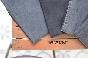 46 - Denim Blue Black Gray Stretch bahan celana jeans cuci belel