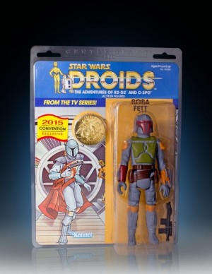 "Gentle Giant  Star Wars Vintage Jumbo 12"" Boba Fett Droids Card"