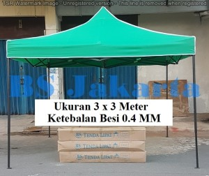 Tenda Lipat 3x3 Ketebalan Besi 0.4 MM