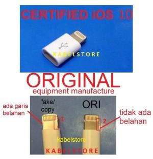 Konverter Kabel Charger USB bb samsung ke Iphone 6+ plus 6 5 5s 5c