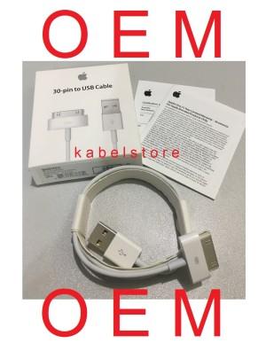 ORI kabel Charger Iphone 4s 4 4g 3gs Ipad 3 2 1 USB Apple ORIGINAL 100