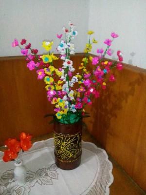 Bunga Hias Hiasan Meja Acrylic