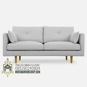 Furniture Kursi Sofa Retro Santai 2 Seater