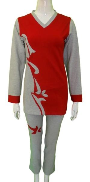 Baju Senam Muslim Wanita / Baju Senam Muslim / Kode BSONR097-Red, XL