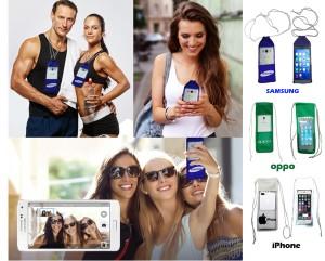 Tas HP Samsung Bahan Mika Kain Multifungsi Foto Selfie Kamera Tenteng