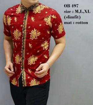 Kemeja Batik  / Baju   Modern Pria / Baju Pendek / Atasan Pria OB497