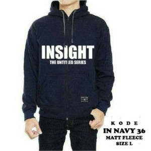 JAKET HOODIE UNISEX INSIGHT NAVY ZIPPER