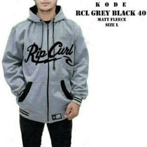 JAKET SWEATER HOODIE RIPCURL FULL GREY ZIPPER