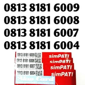 nomor cantik simpati 8181 6000 kartu perdana simpati 6007 6008 6009