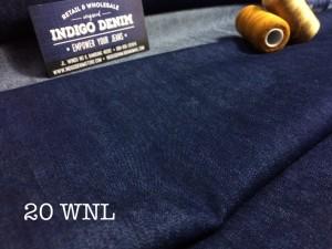 20 - Denim Biru Washed non Stretch Tipis light weight  bahan kain