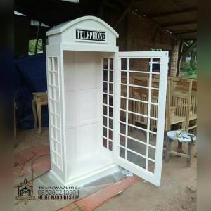 Furniture Lemari Pajangan Telepon