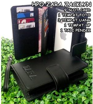 dompet hpo 1 hp max 5,7 inch wanita kulit zaara zacklyn hitam