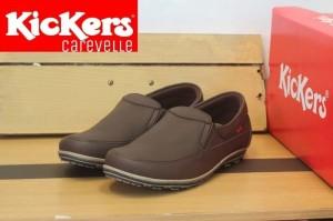 Sepatu Slip On Pria Kickers Kulit / Sepatu Casual Murah / Sepatu Kulit