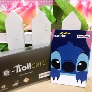 eMoney Mandiri e-Toll Card Custom Design Print Cetak - Kartun Stitch