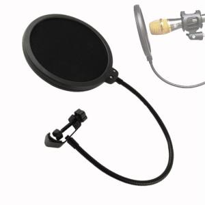 Pop Filter Microphone Layer ganda Mesh Windscreen/Filter Penyaring