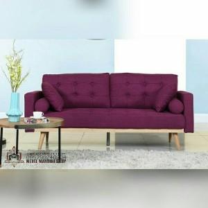 Kursi Sofa Retro 2 Dudukan Warna Ungu