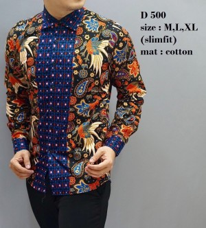 Baju  Pria / Baju  Batik  Slimfit / Baju Pesta / Baju  Keluarga D500