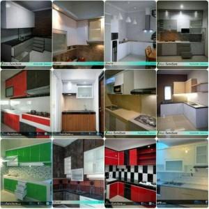 Kitchen set Minimalis / lemari dapur hpl