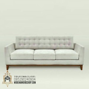 Kursi Sofa Tamu 3 Dudukan Abu-Abu