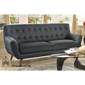 Kursi Sofa Retro 2 Seater Empuk Abu-Abu