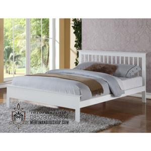 Jual Tempat Tidur Minimalis Duco Putih