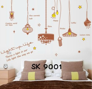 Motif Lampu Light Up Life Wallpaper Wallsticker uk 60x90 cm