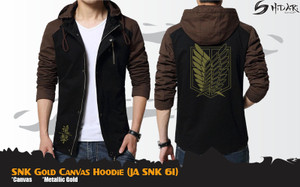 JAKET ANIME ATTACK ON TITAN CANVAS GOLD HOODIE JA SNK 61