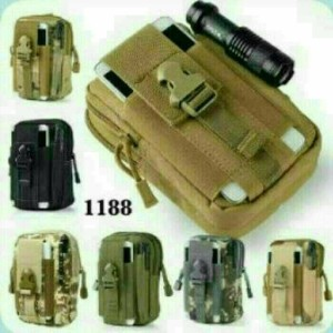 tas pinggang kecil bisa dipasang di pinggang