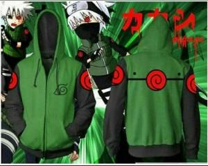 jaket rompi vest anime 2in1(kakashi)