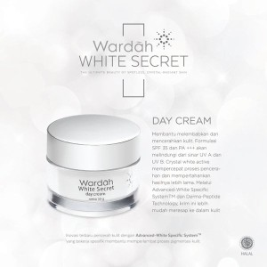 Wardah white secret day cream 30 gr