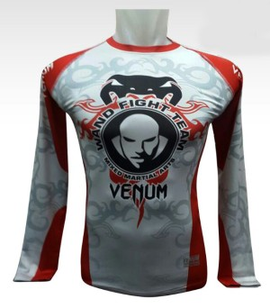 Baju Training Gym Fitness Muay Thai Venum Lengan Panjang Pria Import