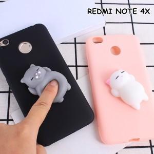 SQUISHY CUTE CAT SQUEEZE Soft Case Cover Casing XIAOMI REDMI NOTE 4x