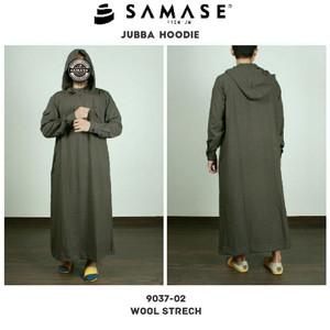 BUSANA MUSLIM SAMASE JUBAH HOODIE 9037 Coklat Baju Muslim Pria Terbaru