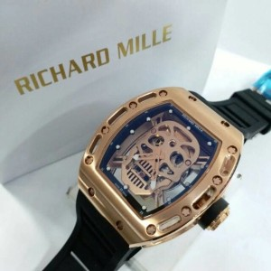 jam tangan pria richard mille skull