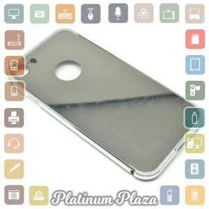 Aluminium Bumper with Mirror Back Cover for iPhone 7 - Silver`67CI78-