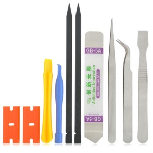 10 in 1 Cell Phone Repair Opening Pry Disassemble Tools Set Spudger Tw