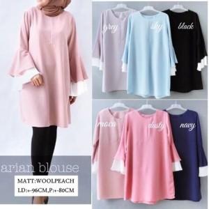 Baju Atasan Blouse Tunik Wanita Baju Muslim Blus Muslim Arian