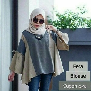 Baju Atasan Blouse Tunik Wanita Baju Muslim Blus Muslim Vera Blouse