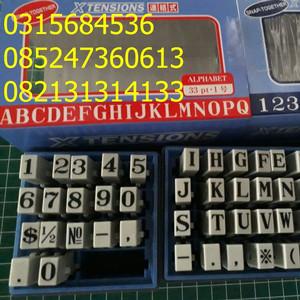 stempel angka dan huruf xtensions 33pt