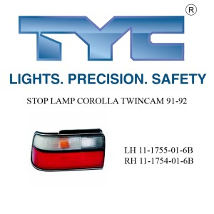 STOP LAMP COROLLA TWINCAM 91-92 LH